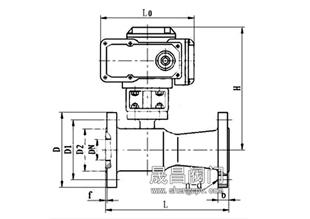 电动高温球阀_尺寸图