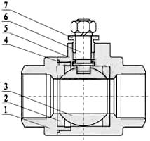 电动内螺纹球阀_二片式(阀体)