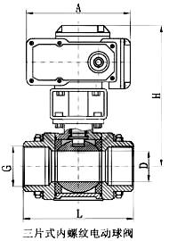 电动内螺纹球阀_尺寸图1