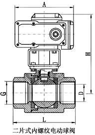 电动内螺纹球阀_尺寸图2