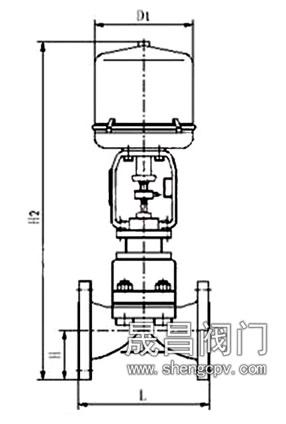 八,电动隔膜调节阀 外形安装尺寸图片