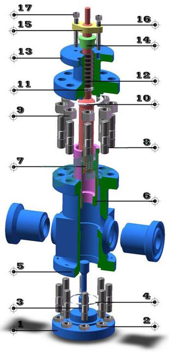 电动高压调节阀 零件图