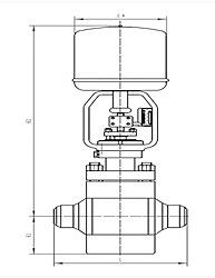 电动高压调节阀 尺寸图
