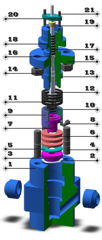 電動多級調節閥 零件圖