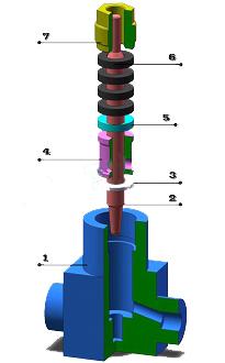 電動小流量調節閥 結構圖