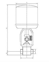 電動小流量調節閥 外形尺寸圖