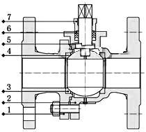 气动高温球阀_结构图