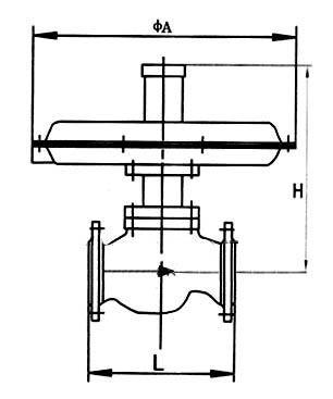 自力式微压调节阀_尺寸图